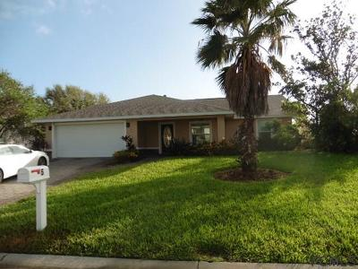 Ormond By The Sea Single Family Home For Sale: 5 Sand Dollar Dr