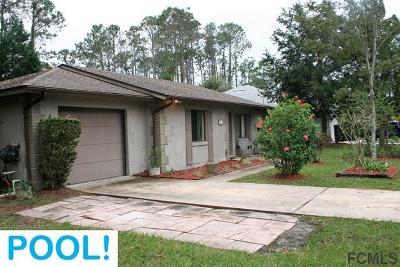Palm Coast FL Single Family Home For Sale: $169,000