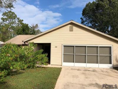 Palm Coast Single Family Home For Sale: 33 Princess Ruth Ln
