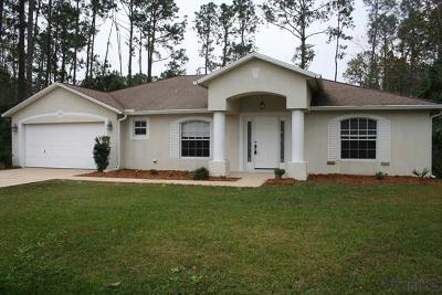 Palm Coast FL Single Family Home For Sale: $200,900