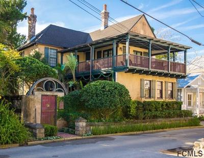 St Augustine Single Family Home For Sale: 15 Bridge St
