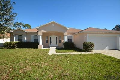 Palm Coast FL Single Family Home For Sale: $205,000