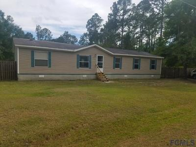 Bunnell FL Single Family Home For Sale: $95,000