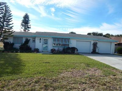 Flagler Beach Single Family Home For Sale: 213 Ocean Palm Drive