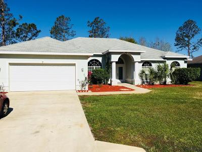 Palm Coast FL Single Family Home For Sale: $245,000