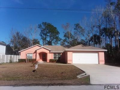 Palm Coast FL Single Family Home For Sale: $199,000