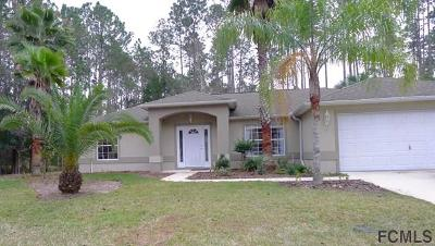 Palm Coast FL Single Family Home For Sale: $185,000