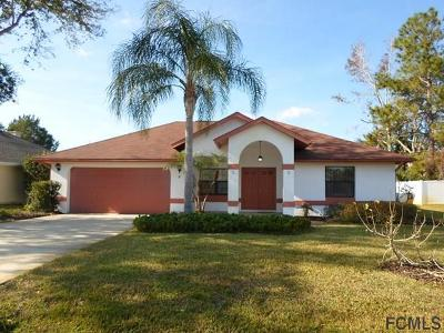 Palm Coast FL Single Family Home For Sale: $275,000