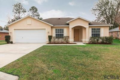 Palm Coast FL Single Family Home For Sale: $172,500