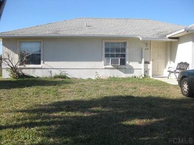 Flagler Beach Single Family Home For Sale: 605 N Central Ave