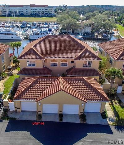 Palm Coast Condo/Townhouse For Sale: 4 Marina Point Place #4
