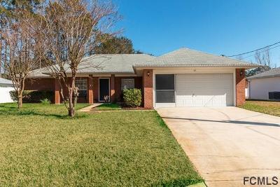 Palm Coast Single Family Home For Sale: 43 Beaverdam Ln