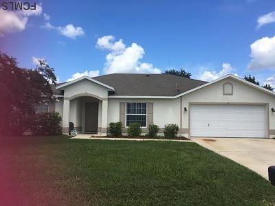 Palm Coast FL Single Family Home For Sale: $189,000