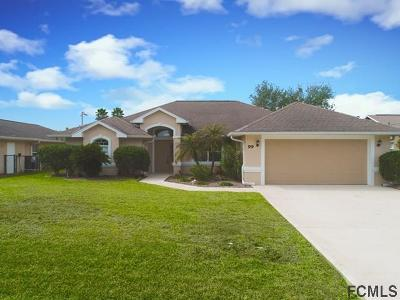 Palm Coast FL Single Family Home For Sale: $389,900