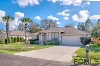 Palm Coast FL Single Family Home For Sale: $169,500