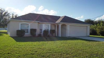 Palm Coast FL Single Family Home For Sale: $184,900