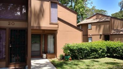 Palm Coast Condo/Townhouse For Sale: 19 Pine Hurst Pl #19