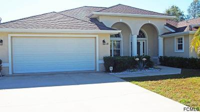 Palm Coast Single Family Home For Sale: 38 Fircrest Lane