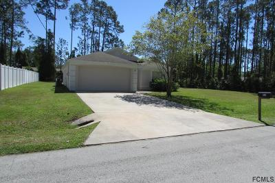 Palm Coast FL Single Family Home For Sale: $182,500