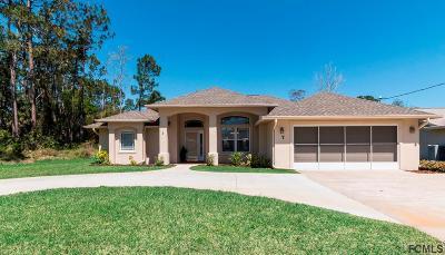 Palm Coast FL Single Family Home For Sale: $262,000