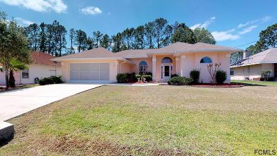 Palm Coast FL Single Family Home For Sale: $218,000