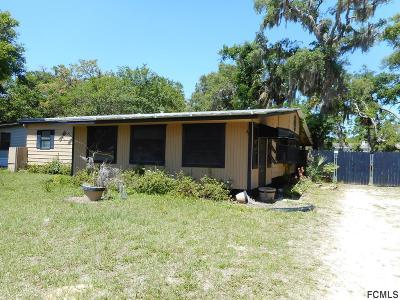 Flagler Beach FL Single Family Home For Sale: $69,000