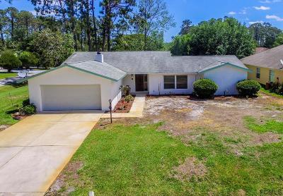 Palm Coast FL Single Family Home For Sale: $158,000