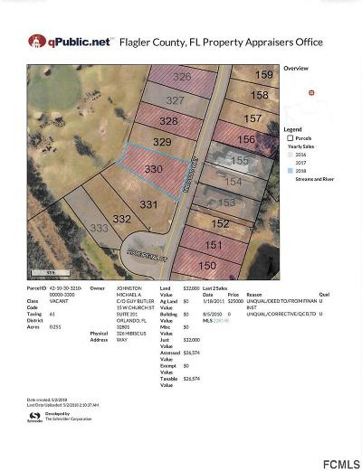 Conservatory At Hammock Beach Residential Lots & Land For Sale: 326 Hibiscus Way