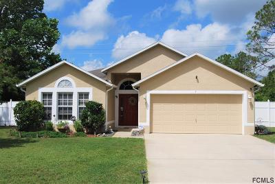 Palm Coast FL Single Family Home For Sale: $209,000