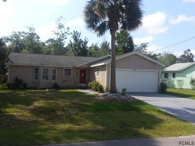 Palm Coast FL Single Family Home For Sale: $134,900