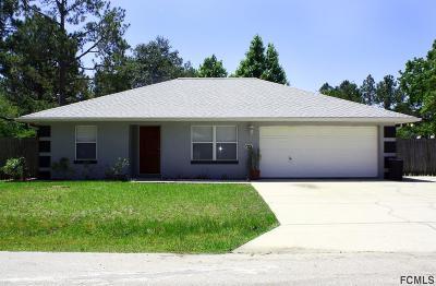 Palm Coast FL Single Family Home For Sale: $198,000