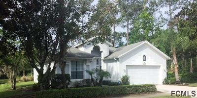 Palm Coast FL Single Family Home For Sale: $278,000