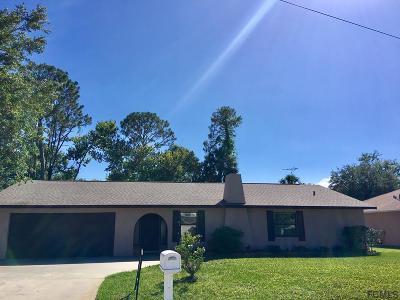 Palm Coast FL Single Family Home For Sale: $192,000