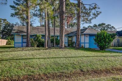Palm Coast FL Single Family Home For Sale: $144,900