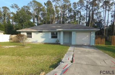 Palm Coast FL Single Family Home For Sale: $148,000