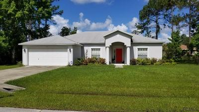 Palm Coast FL Single Family Home For Sale: $184,000