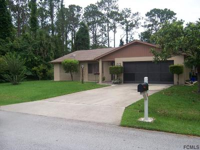 Palm Coast FL Single Family Home For Sale: $179,900