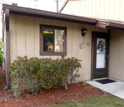 Flagler Beach Condo/Townhouse For Sale: 22 Village Dr #22