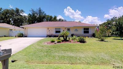 Palm Coast FL Single Family Home For Sale: $163,000
