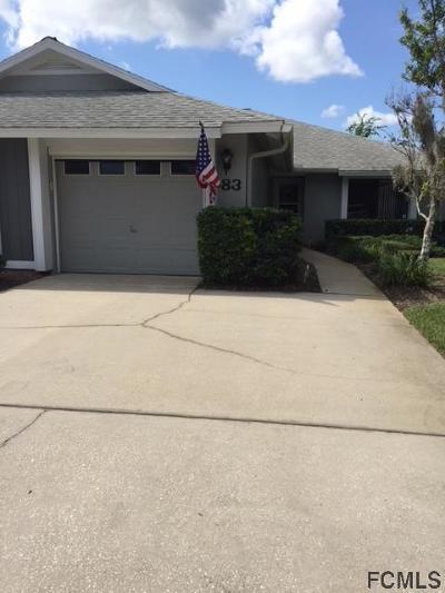 Palm Coast Condo/Townhouse For Sale: 83 E Lake Forest Pl #83