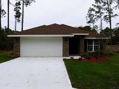 Palm Coast FL Single Family Home For Sale: $222,900