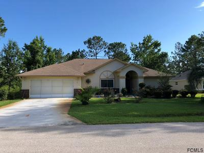 Palm Coast FL Single Family Home For Sale: $215,000