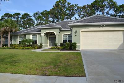 Palm Coast Single Family Home For Sale: 17 N Park Circle