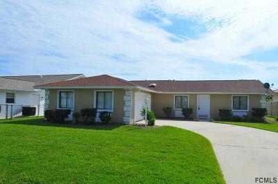 Palm Coast FL Single Family Home For Sale: $225,000