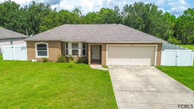 Palm Coast FL Single Family Home For Sale: $189,000