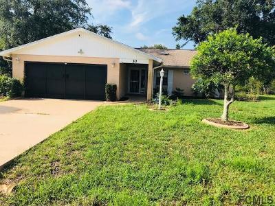 Palm Coast Single Family Home For Sale: 30 Fernwood Ln