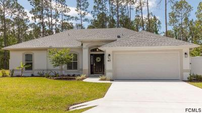 Palm Coast Single Family Home For Sale: 47 Robinson Drive