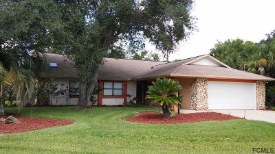 Palm Coast FL Single Family Home For Sale: $215,000