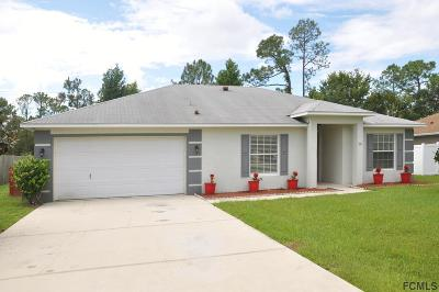 Palm Coast FL Single Family Home For Sale: $189,999