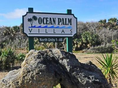 Flagler Beach Condo/Townhouse For Sale: 44 Ocean Palm Villas N #44